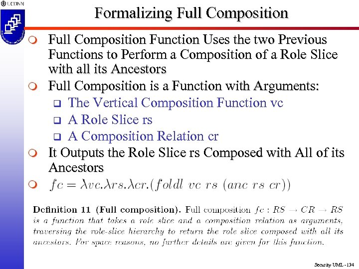Formalizing Full Composition m m m Full Composition Function Uses the two Previous Functions