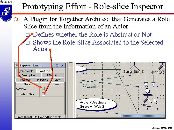 Prototyping Effort - Role-slice Inspector m A Plugin for Together Architect that Generates a