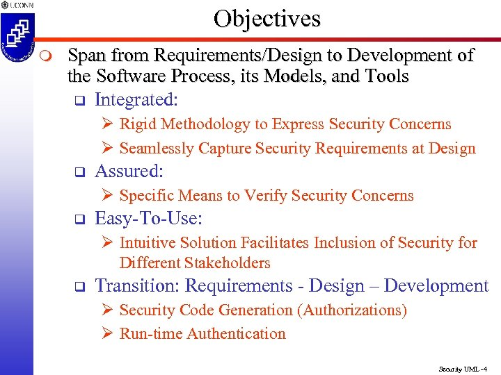 Objectives m Span from Requirements/Design to Development of the Software Process, its Models, and