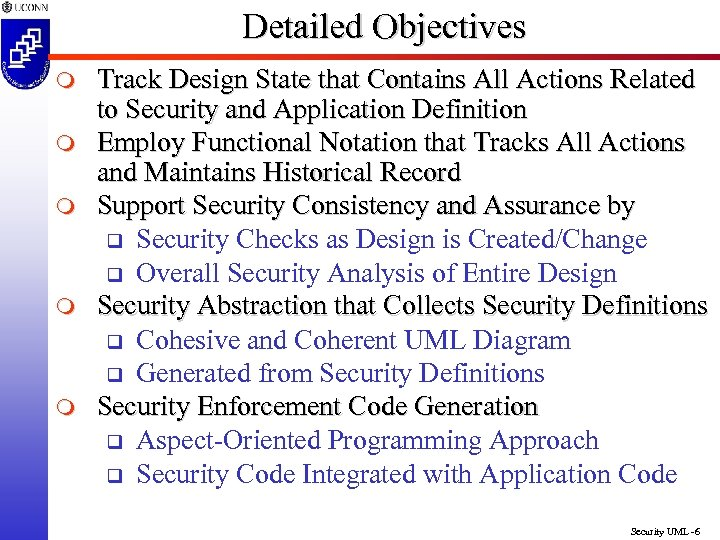 Detailed Objectives m m m Track Design State that Contains All Actions Related to