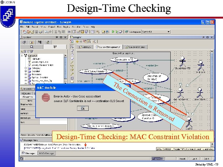 Design-Time Checking Th e. C on nec tio ni s. R em ov ed