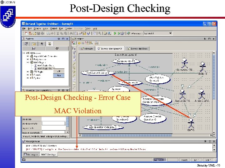 Post-Design Checking - Error Case MAC Violation Security UML -75