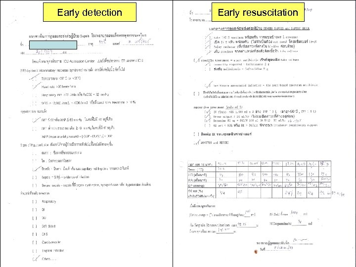 Early detection Early resuscitation