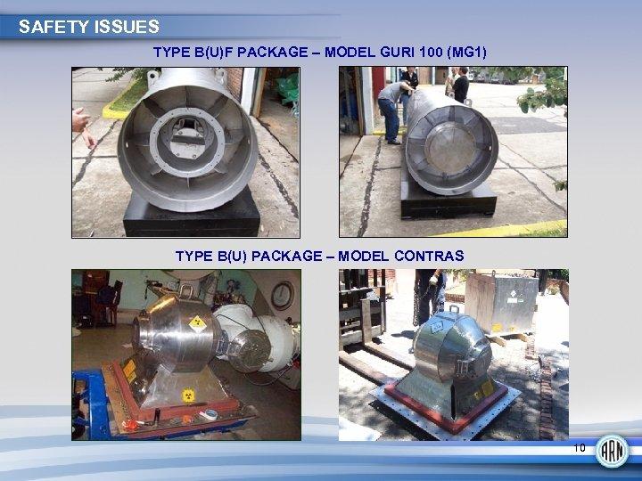 SAFETY ISSUES TYPE B(U)F PACKAGE – MODEL GURI 100 (MG 1) TYPE B(U) PACKAGE