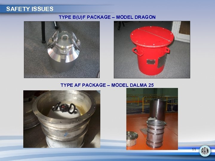SAFETY ISSUES TYPE B(U)F PACKAGE – MODEL DRAGON TYPE AF PACKAGE – MODEL DALMA