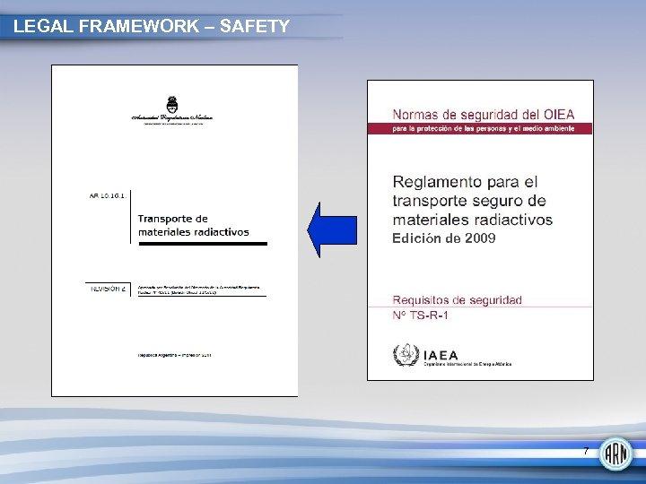 LEGAL FRAMEWORK – SAFETY Edición de 2009 7