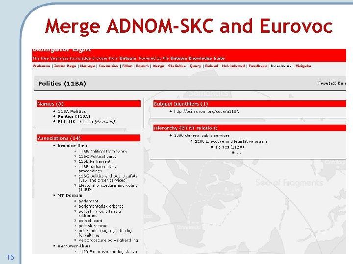 Merge ADNOM-SKC and Eurovoc 15