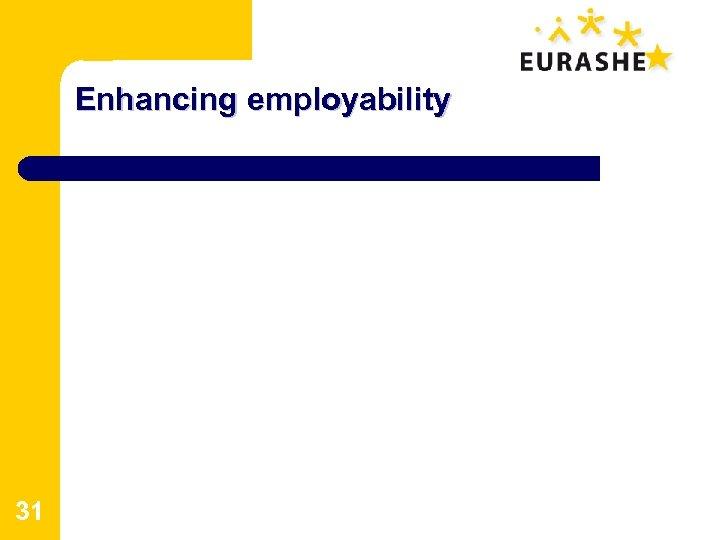Enhancing employability 31