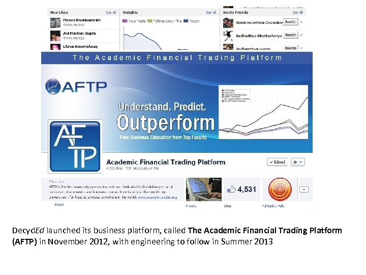 Decyd. Ed launched its business platform, called The Academic Financial Trading Platform (AFTP) in