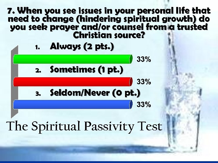 7. When you see issues in your personal life that need to change (hindering