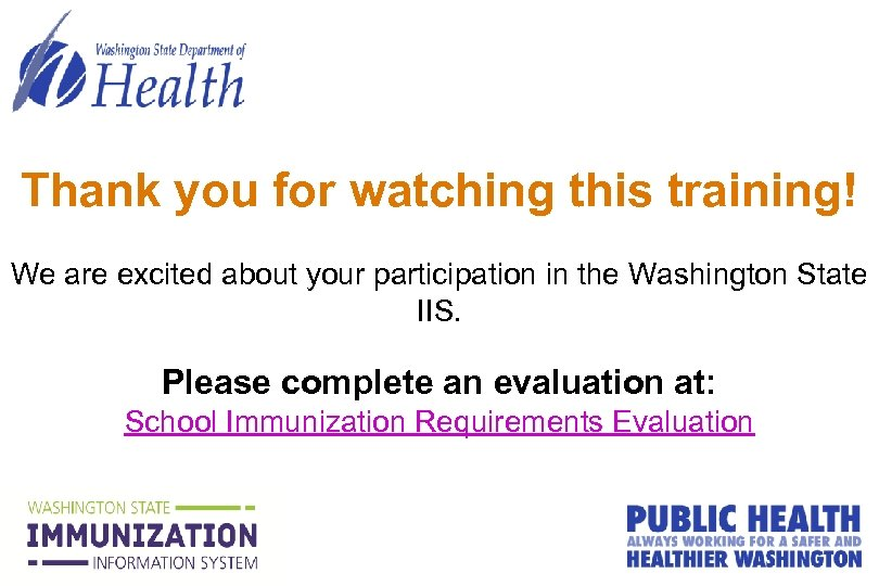 Thank you for watching this training! We are excited about your participation in the
