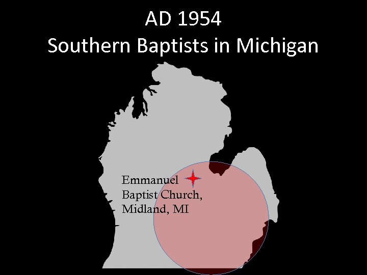 AD 1954 Southern Baptists in Michigan Emmanuel Baptist Church, Midland, MI