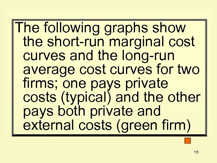The following graphs show the short-run marginal cost curves and the long-run average cost