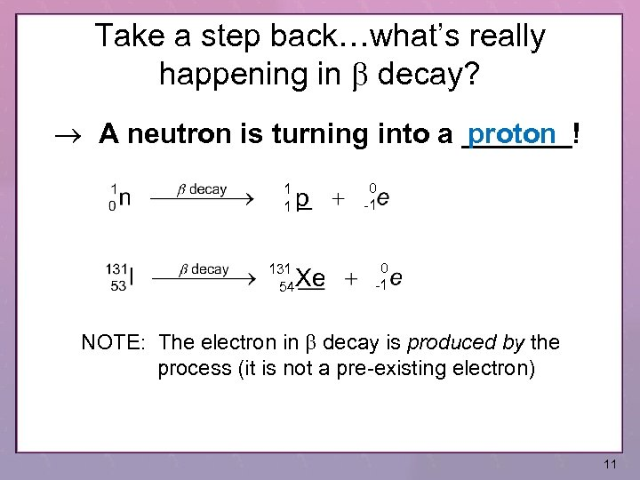 Take a step back…what's really happening in b decay? A neutron is turning into