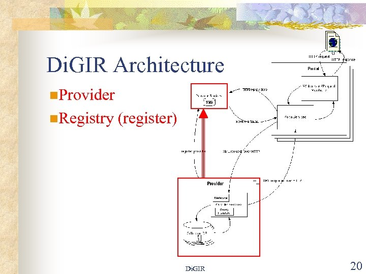 Di. GIR Architecture n. Provider n. Registry (register) Di. GIR 20