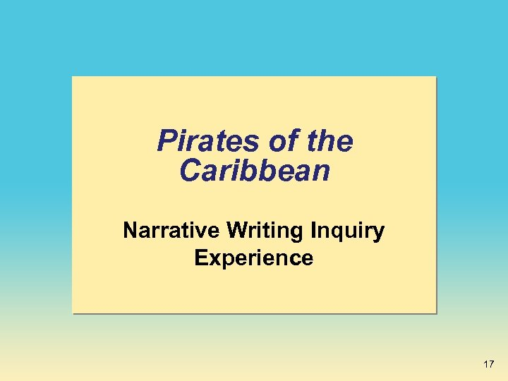 Pirates of the Caribbean Narrative Writing Inquiry Experience 17