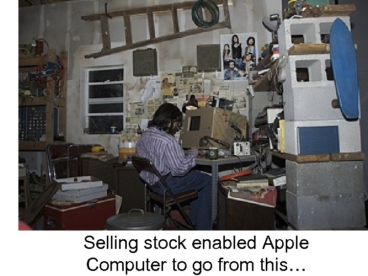 Selling stock enabled Apple Computer to go from this…