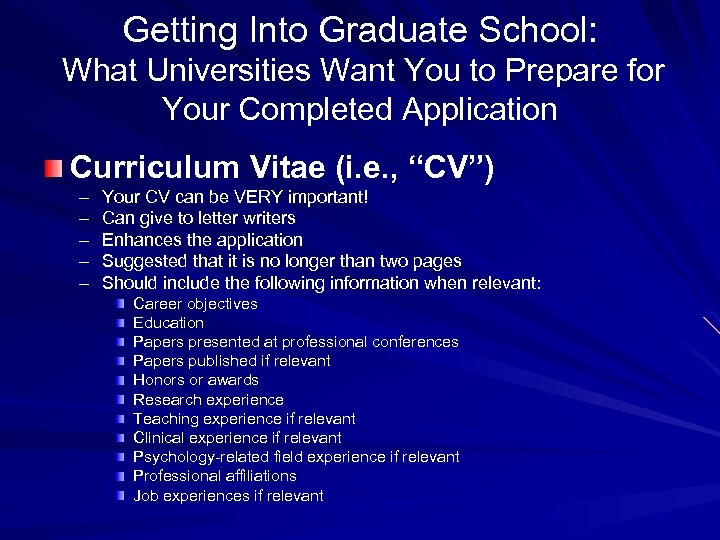 Getting Into Graduate School: What Universities Want You to Prepare for Your Completed Application