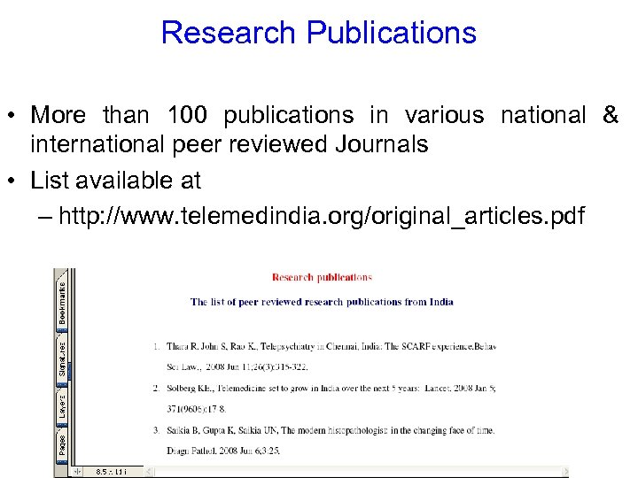 Research Publications • More than 100 publications in various national & international peer reviewed