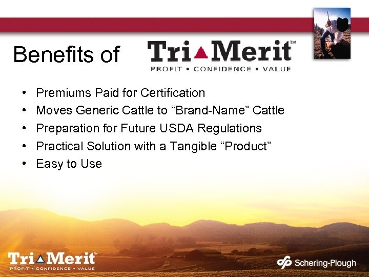 """Benefits of • • • Premiums Paid for Certification Moves Generic Cattle to """"Brand-Name"""""""