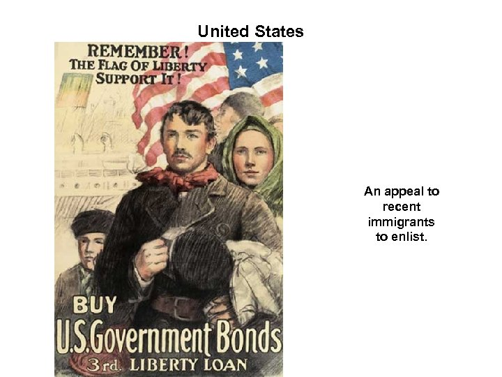 United States An appeal to recent immigrants to enlist.