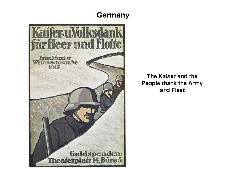 Germany The Kaiser and the People thank the Army and Fleet