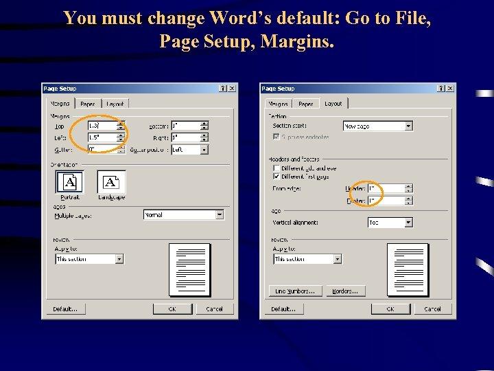 You must change Word's default: Go to File, Page Setup, Margins.