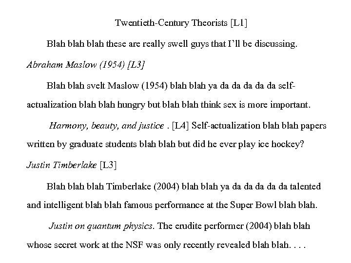 Twentieth-Century Theorists [L 1] Blah blah these are really swell guys that I'll be