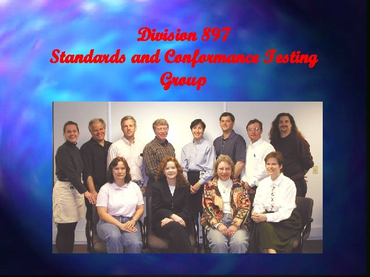 Division 897 Standards and Conformance Testing Group