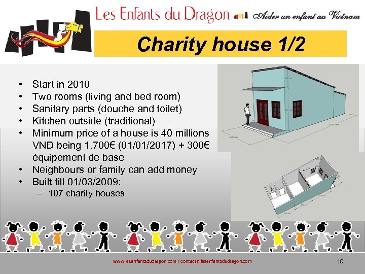 Charity house 1/2 • • • Start in 2010 Two rooms (living and bed