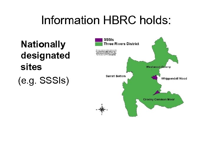 Information HBRC holds: Nationally designated sites (e. g. SSSIs)