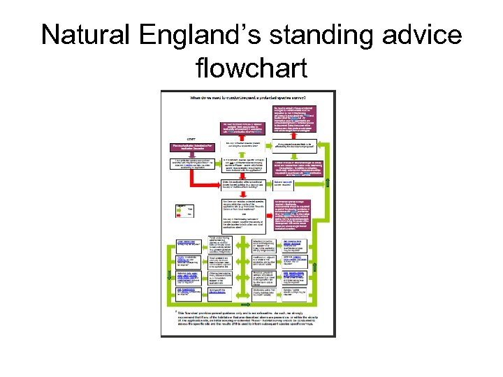 Natural England's standing advice flowchart