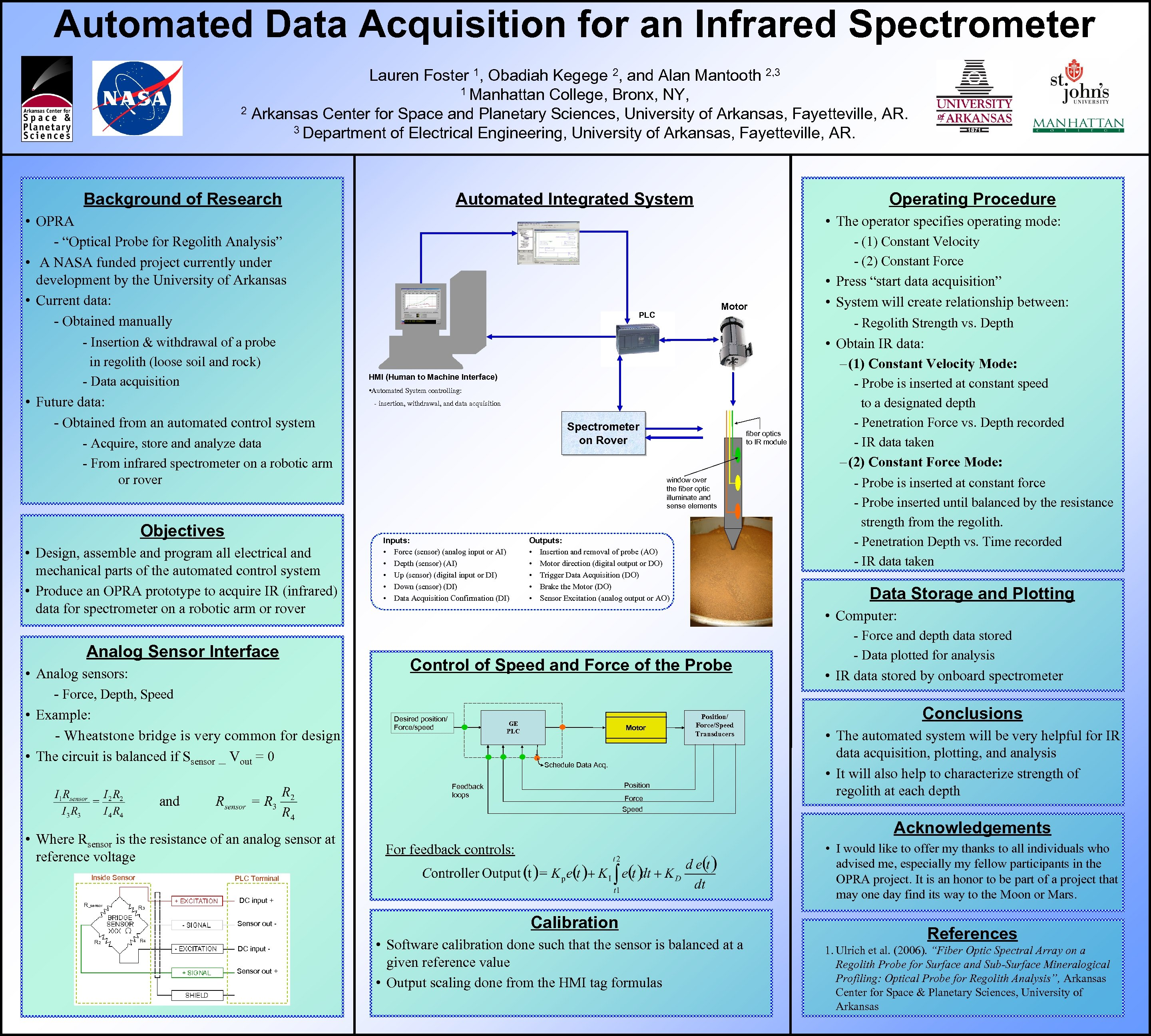 Automated Data Acquisition for an Infrared Spectrometer Lauren Foster 1, Obadiah Kegege 2, and