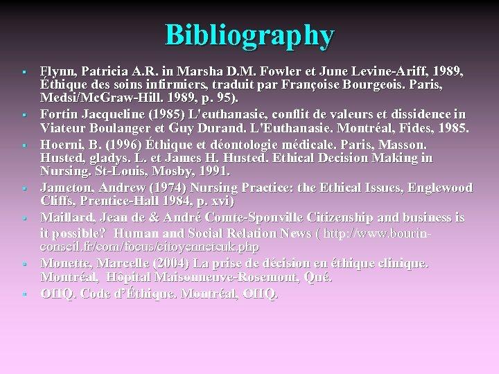 Bibliography § § § § Flynn, Patricia A. R. in Marsha D. M. Fowler