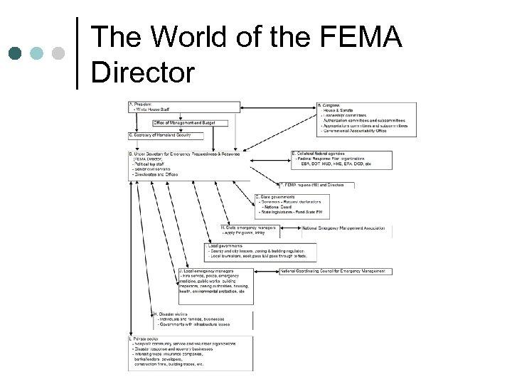 The World of the FEMA Director