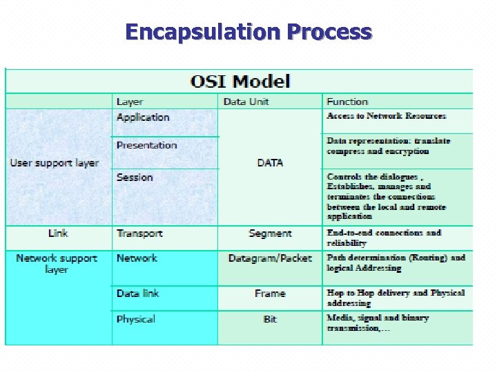 Encapsulation Process