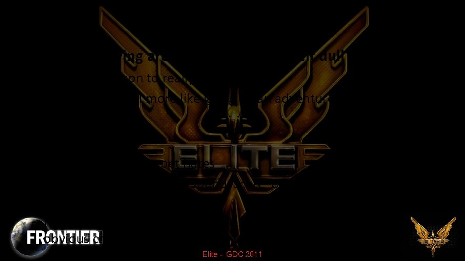 "The Genesis of ""Elite"" • Spaceships flying around and shooting felt dull – Wanted"