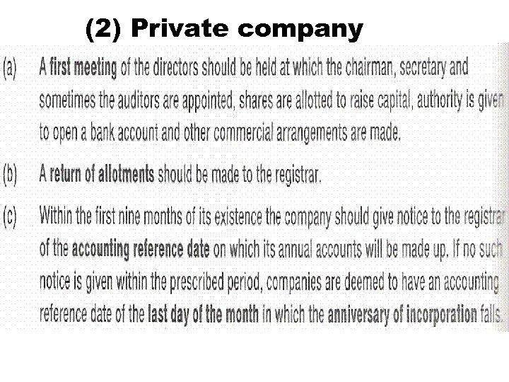 (2) Private company