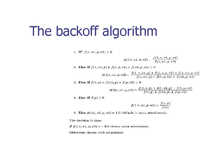 The backoff algorithm