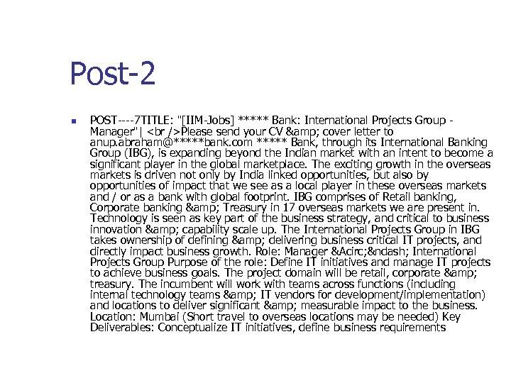 Post-2 n POST----7 TITLE: