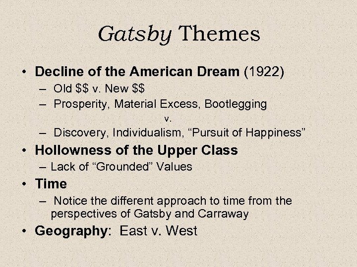 an analysis of states of happiness in the great gatsby by f scott fitzgerald The great gatsby is a 1925 novel written by american author f scott fitzgerald that follows a cast of characters living in the fictional town of west and east egg on prosperous long island in the summer of 1922.