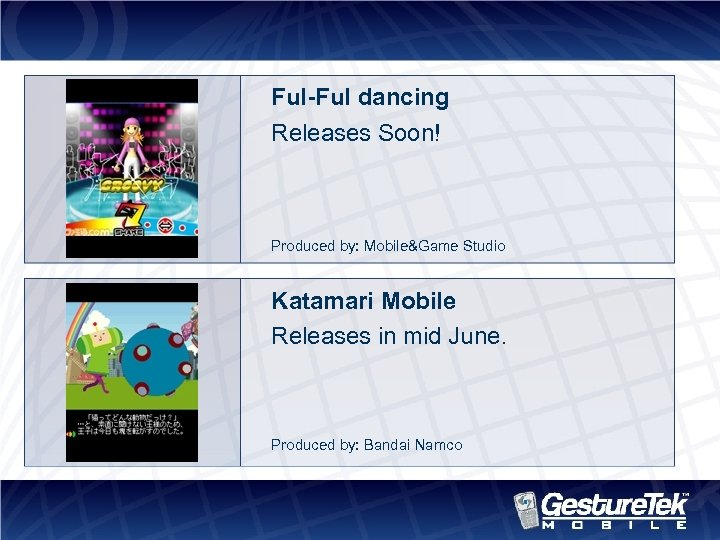 Ful-Ful dancing Releases Soon! Produced by: Mobile&Game Studio Katamari Mobile Releases in mid June.