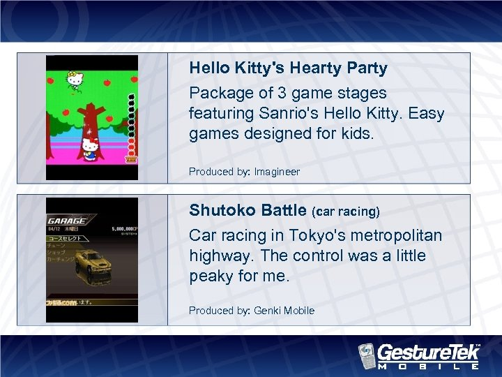 Hello Kitty's Hearty Package of 3 game stages featuring Sanrio's Hello Kitty. Easy games