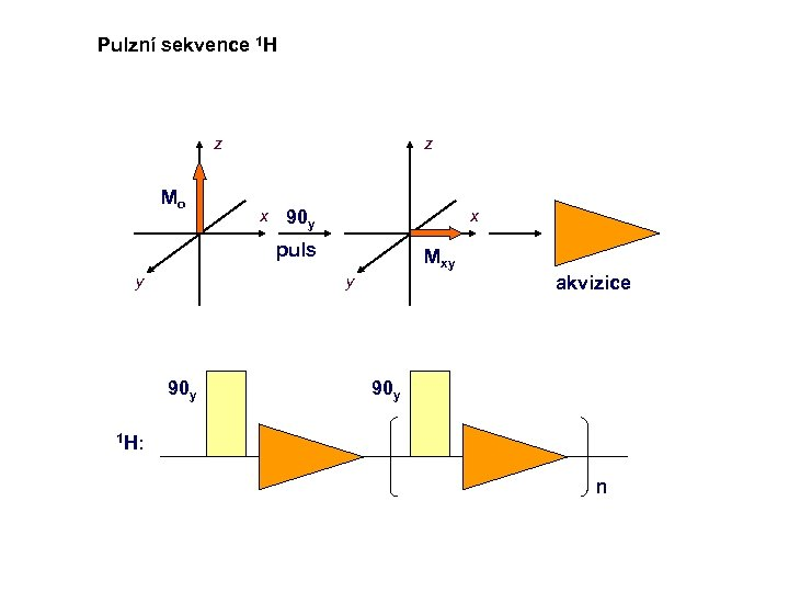 Pulzní sekvence 1 H z Mo z x x 90 y puls y Mxy