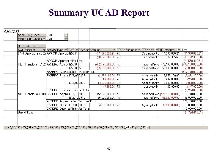 Summary UCAD Report 49