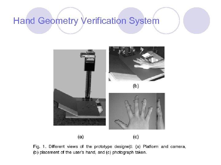 Hand Geometry Verification System