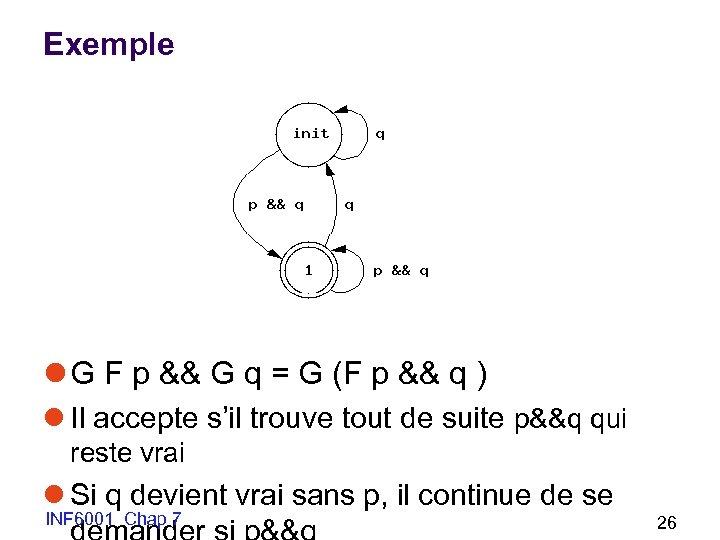 Exemple l G F p && G q = G (F p && q