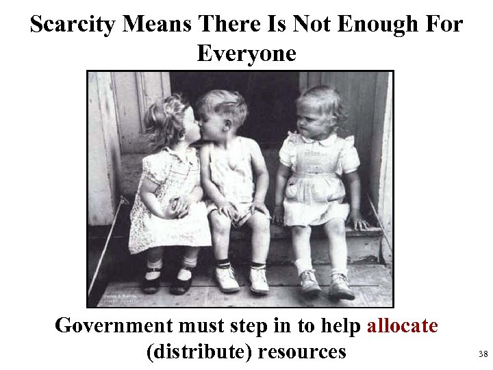 Scarcity Means There Is Not Enough For Everyone Government must step in to help
