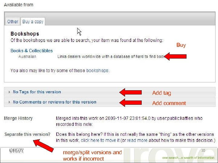 Buy Add tag Add comment merge/split versions and works if incorrect 10