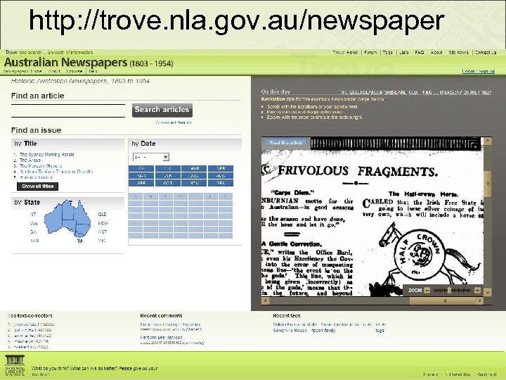 http: //trove. nla. gov. au/newspaper 25